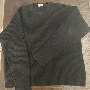 Vintage 80's J. Crew   Cotton Black Oarsman Sweater Men's Extra Large Tall